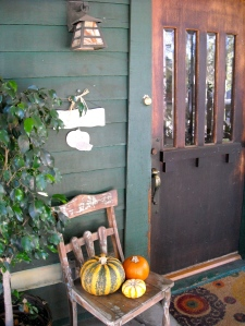 Our front porch decorated for Halloween