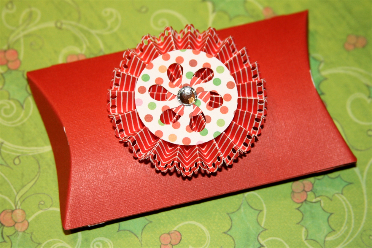 Festive Pillow Box With Rosette