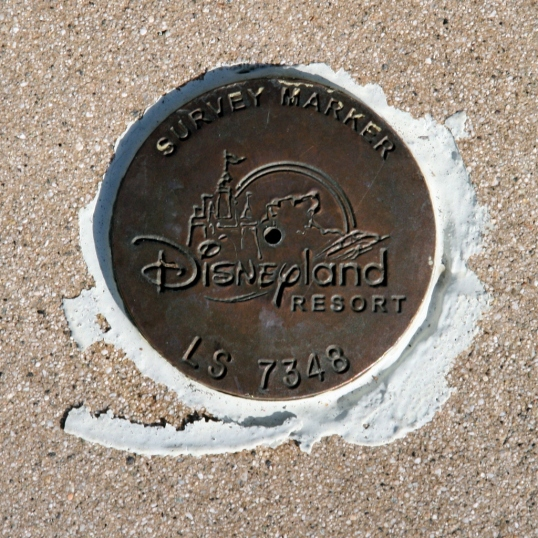 Disneyland survey marker