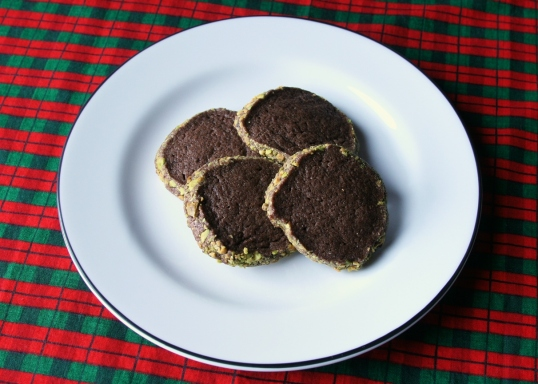 Chocolate Pistachio Wafers