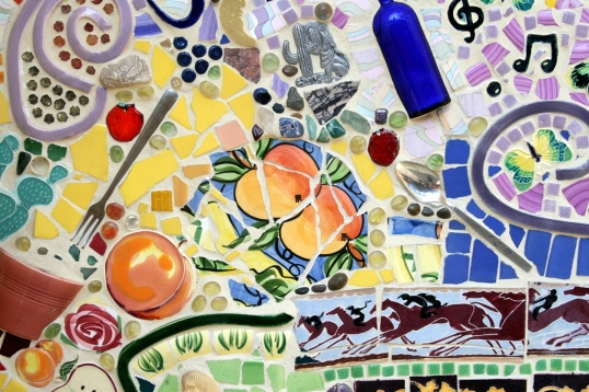 Mosaic detail from Hollywoodland at California Adventure