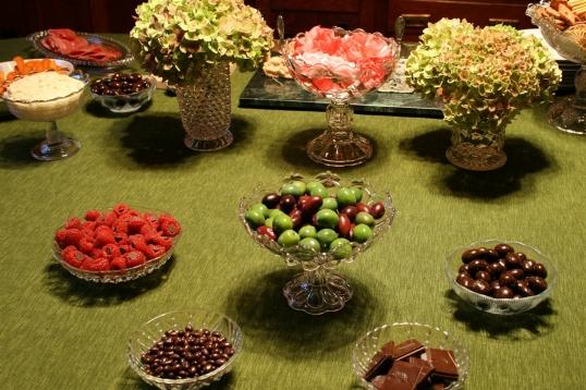 Chocolate filled raspberries