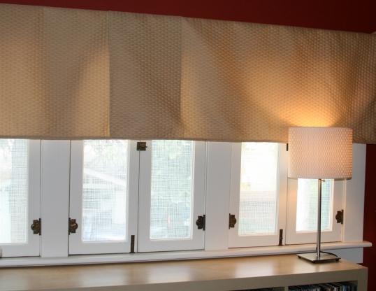 Music room window treatment