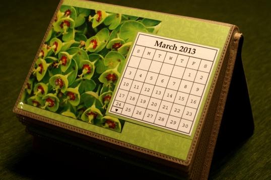 Photo calendar detail