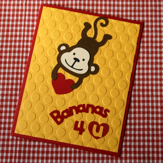 Bananas 4 U Valentine's Day card