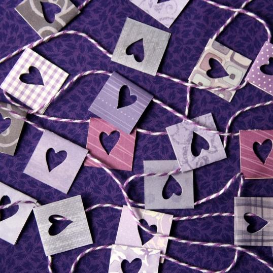 Purple hearts galore