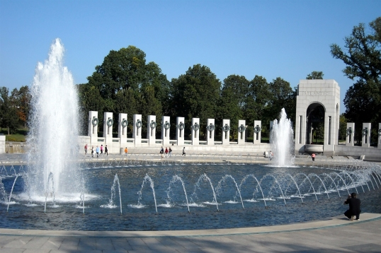 Many of the DC memorials have water features and this one was spectacular