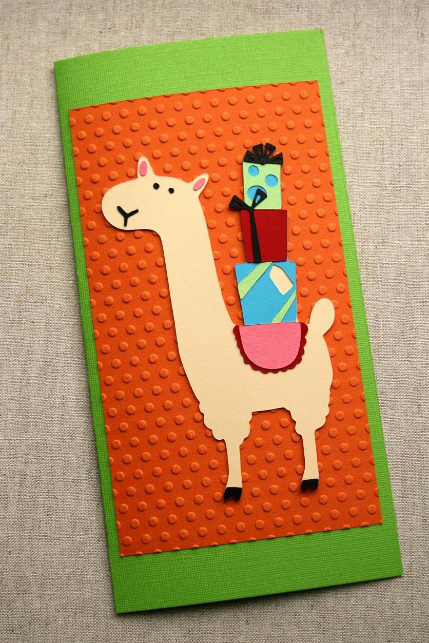 Cricut Friday Llama Birthday Card O Crafted Living