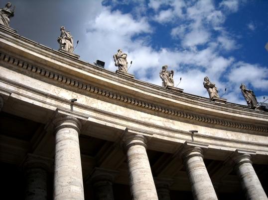 St. Peter's Colonnade designed by Giovanni Lorenzo Bernini
