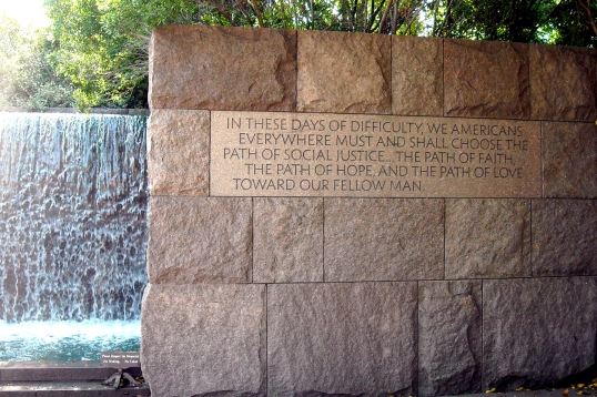 Twenty one FDR quotes are featured throughout the monument.
