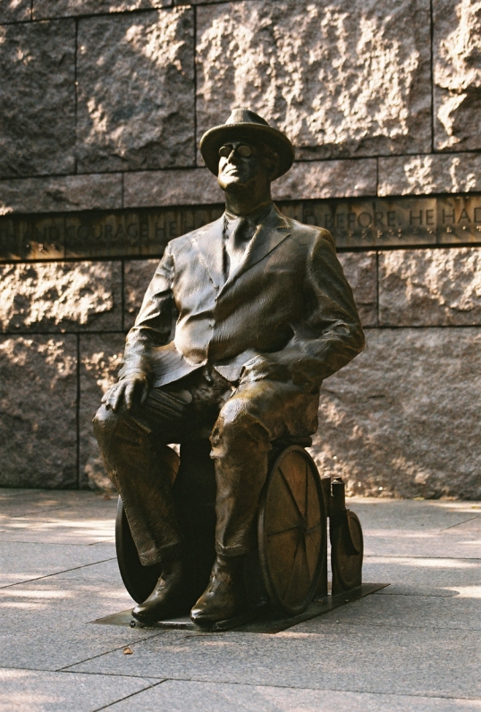 The FDR Memorial was purposely designed to be completely wheelchair accessible.