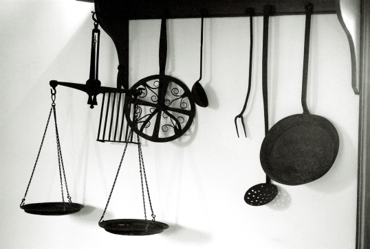 A display of kitchen tools
