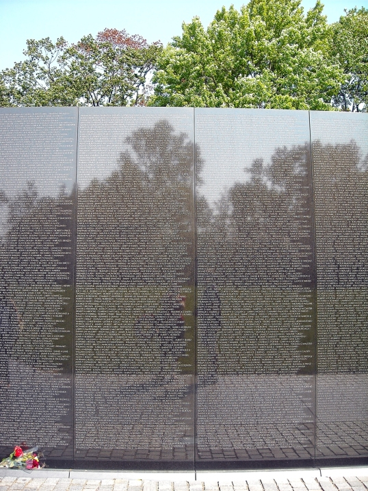 The names are inscribed in the chronological order of their dates of casualty.