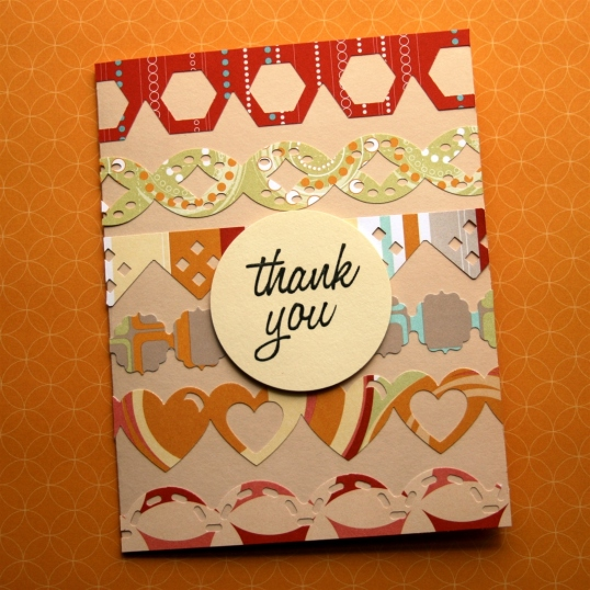 A great way to use up patterned paper scraps.