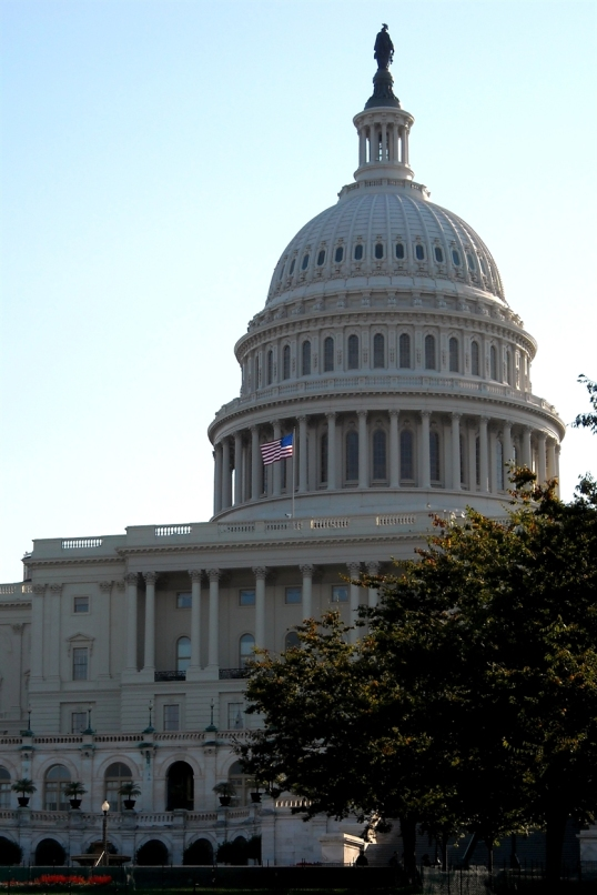 By law, no structure in DC can be higher than the Capitol.
