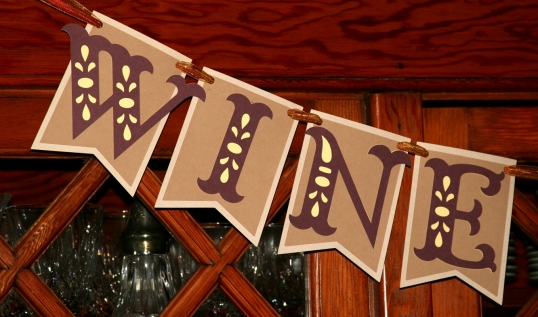 Wine and cheese banner detail