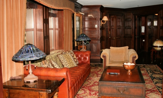 A glimpse of the living room of the Teddy Roosevelt suite.