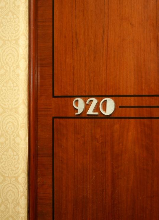Love the Art Deco details on the room doors!