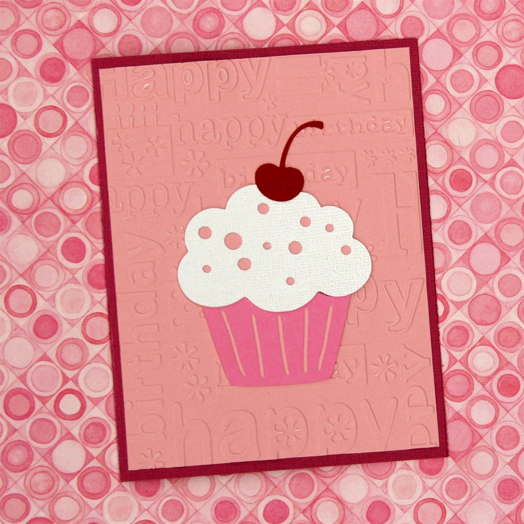 Cricut Friday Birthday Card 5 – Cupcake Birthday Card