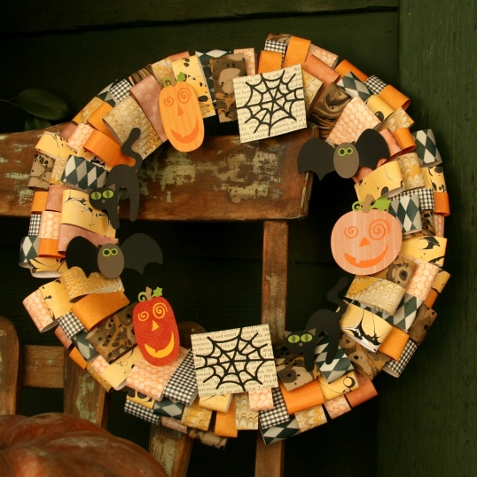A unique paper wreath to decorate my front porch.