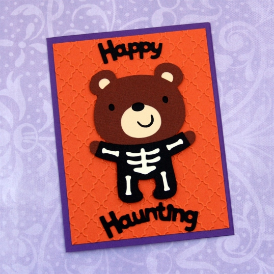 Happy Haunting for this skeleton bear.