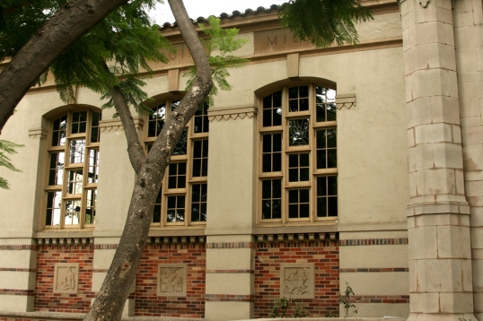 The details on the façade bring the library to life.