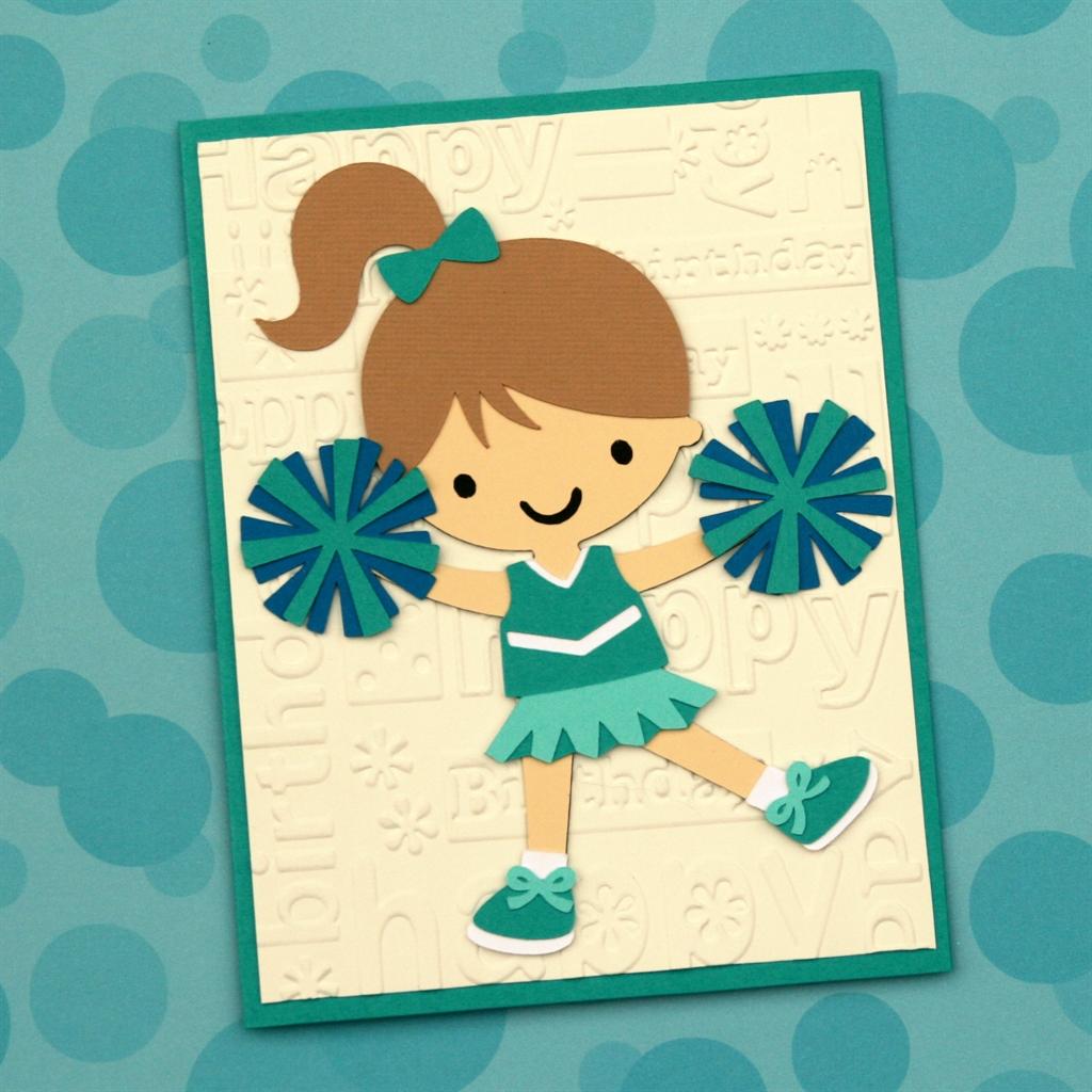 Cricut Friday Cheerleader Birthday Card O Crafted Living