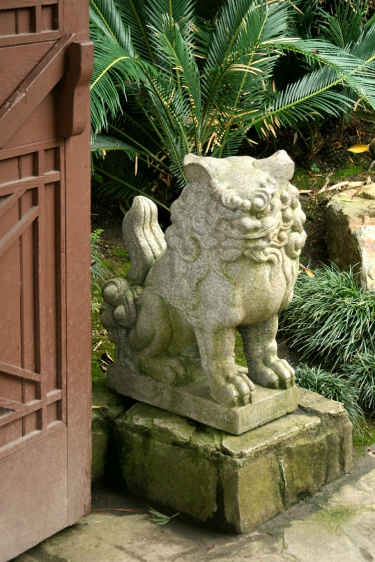 One of the greeters at the gate to the garden.