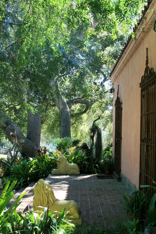 From this porch, the Madame would give daily instructions to her gardeners.