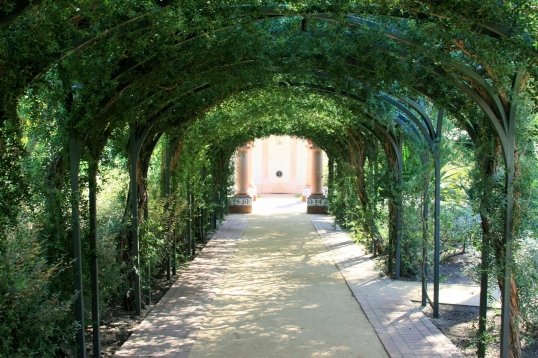 A gorgeous arbor that greets you at the end of the tour.