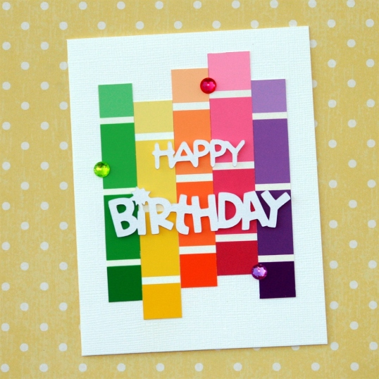 Paint Chip Birthday Card