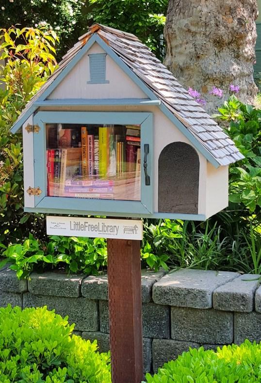 An adorable cottage library.